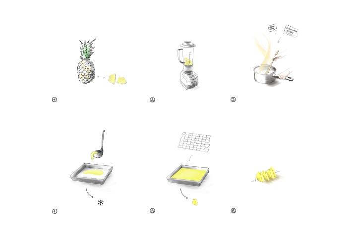 ananas-brochette